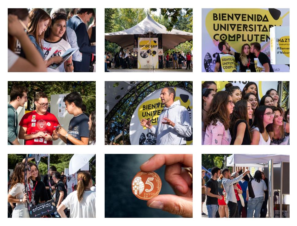 Collage de fotos de la Bienvenida 2017